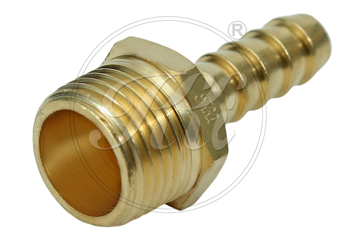 Brass Hose Fittings Manufacturers in India, Hose Nipple Male BSPT