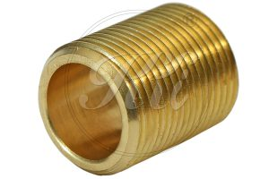 Brass Flare Pipe Fittings Supplier, Brass Full Thread Round Nipple