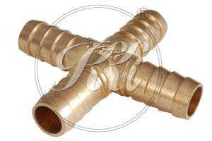 Brass Hose Cross Joint Nipple, Cross T Joint Nipple